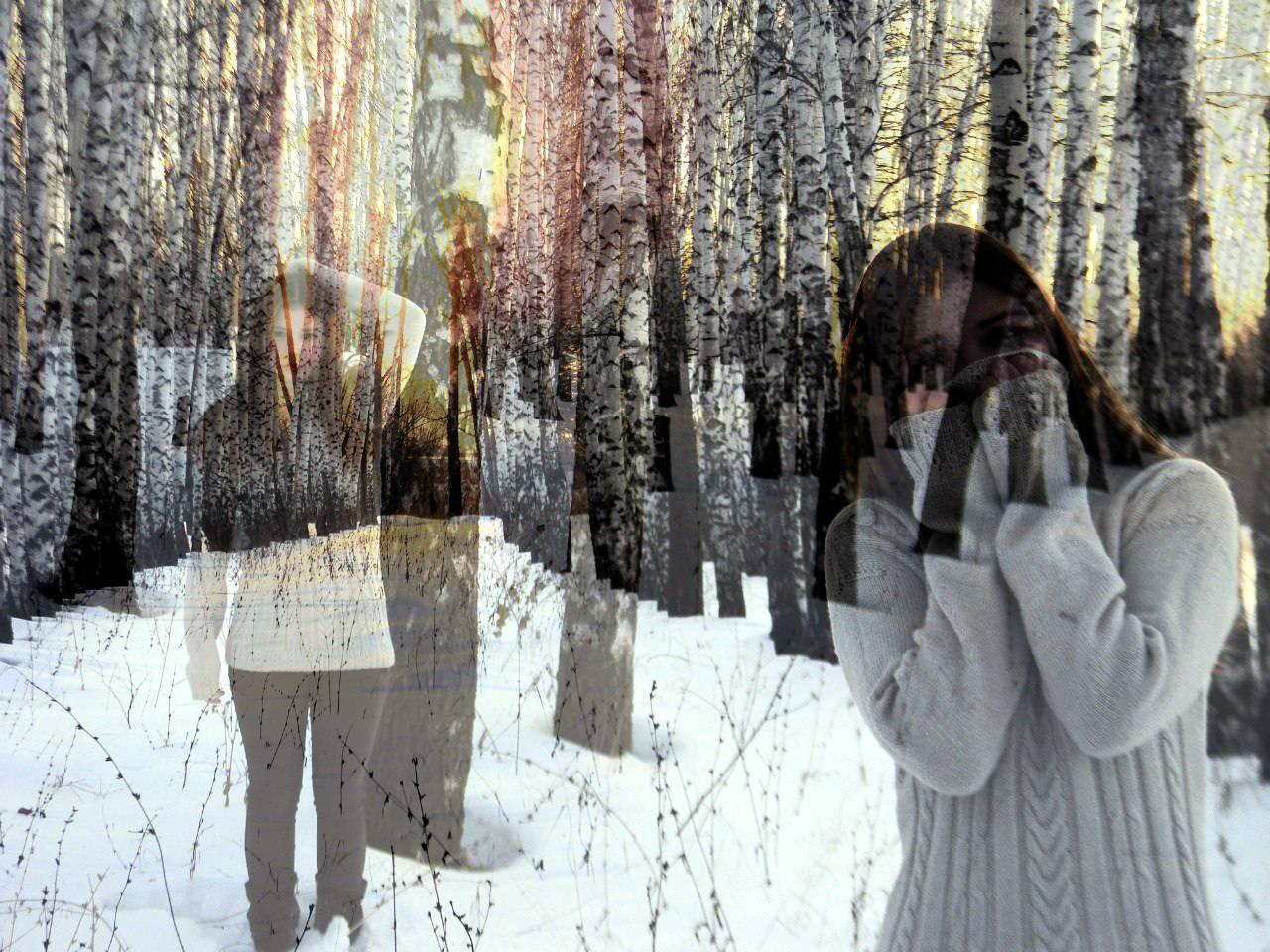 Фото девушек на фоне зимы не видно лица 27 фотография