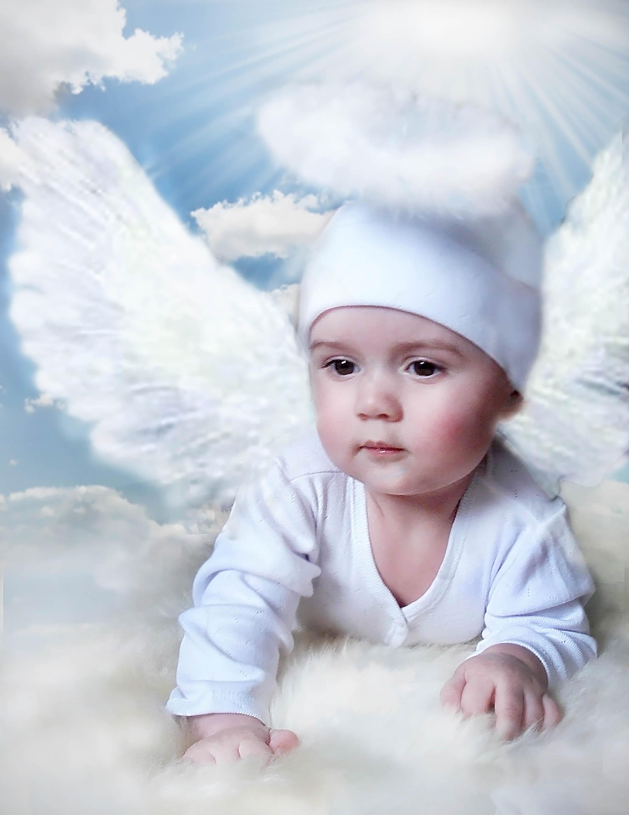 Красивое фото ангела ребенка