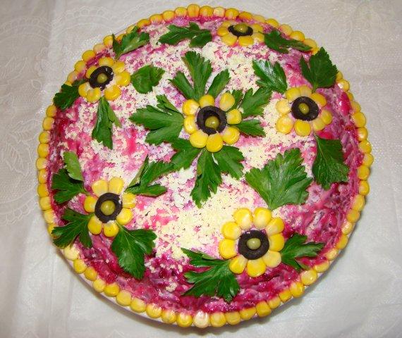 Украшение салатов своими руками с фото пошаговое на день рождения